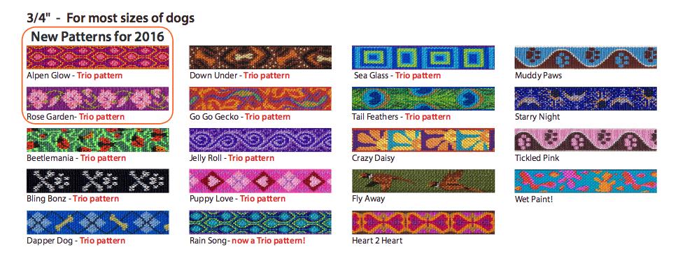 3/4'' Lupine Collars - Patterns
